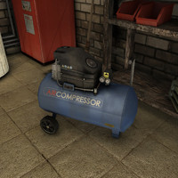 air compressor low poly