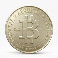 3d bitcoin coins model