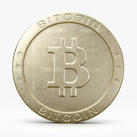bitcoin bit coin 3d model