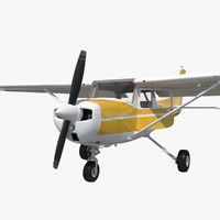 3ds max cessna 150 rigged 3