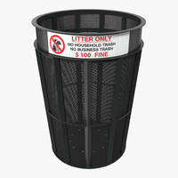 3d public garbage