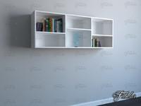 bookshelf mentalray reading 3d model