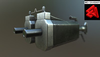 sci-fi rifle 3d 3ds
