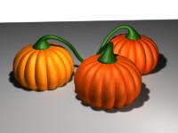 3d model of pumpkin