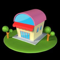 3d cartoon home model