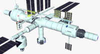 tranquility space station 3d max