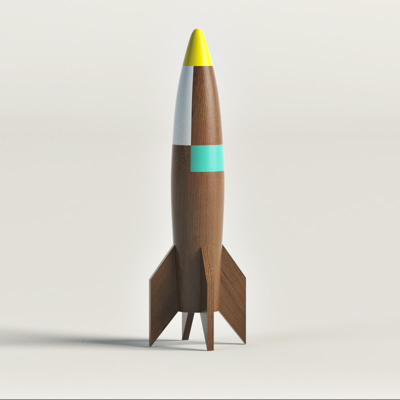 Wooden rocket ship 3d model for Rocket ship materials