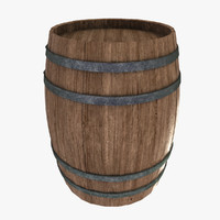 3ds max wood barrel