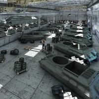 3d ww ii tank factory