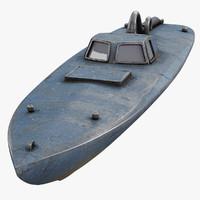 drug submarine 3d model