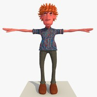 3d rigged cartoon casual man