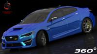 3d subaru wrx concept 2016
