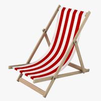 3d model beachchair realistic