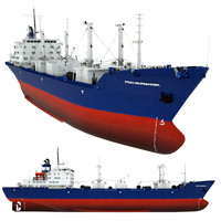 reefer frio murmansk cargo ship 3d model