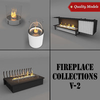 3d realistic fireplace model