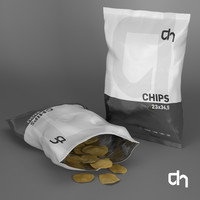 3d model chips 23x34 grams