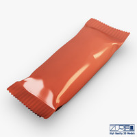 3d model candy wrapper v 1