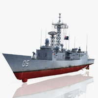 hmas melbourne ffg 05 3d model