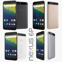 3d flagship google nexus 6p model