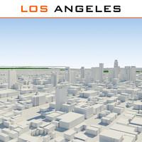 3d los angeles cityscape model