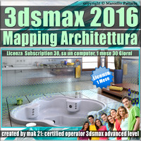 3ds max 2016 Mapping Architettura vol 33 _ 1 Mese Desktop Subscription