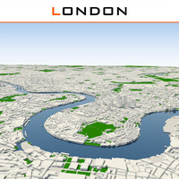 london cityscape 3d model