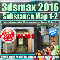 3ds max 2016 Substance Map 1 - 2 Versione 1 Mese Desktop Subscription