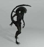 3d model of xenomorph alien creature