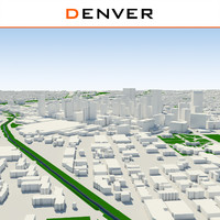 3d model denver cityscape build