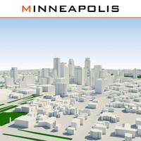 3ds max minneapolis cityscape