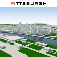 3d pittsburgh cityscape model