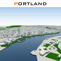 3d model portland oregon usa