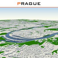 prague cityscape 3d dxf