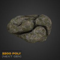 3d model mossy rock