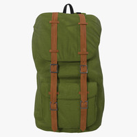 3d backpack 8 green generic model