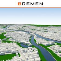 3d bremen cityscape
