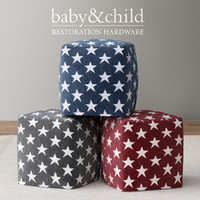 3d model liberty star pouf