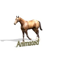 horse 1 3d blend