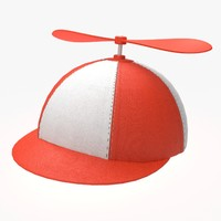 3d propeller hat model