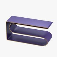 obj modern shelf violet gold