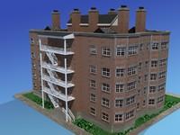 3dsmax apartment building urban