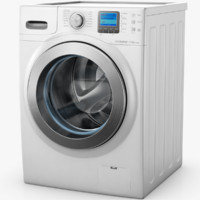 samsung ecobubble washing machine 3d model
