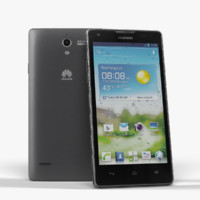smartphone huawei ascend g700 3d model