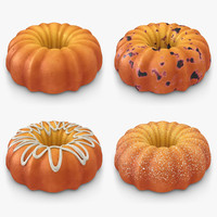 3ds max pumpkin buttermilk cake set