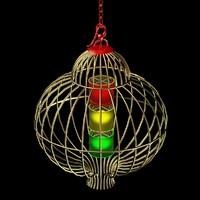 chinese lighting red lantern 3d model