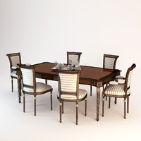 3d francesco molon dining table model