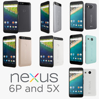 google nexus 6p huawei 3d model