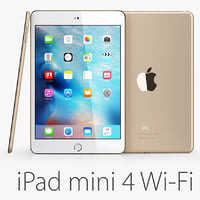 ipad mini 4 wi-fi 3d max