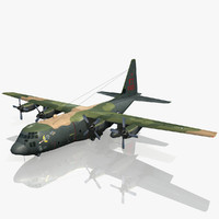 gunship lockheed c-130 hercules 3d model