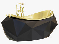 diamond bathtub maison 3d model